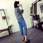 Capri Wide-leg Jeans