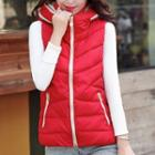 Hooded Padded Zip Vest