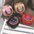 Chain Strap Buckled Mini Crossbody Bag