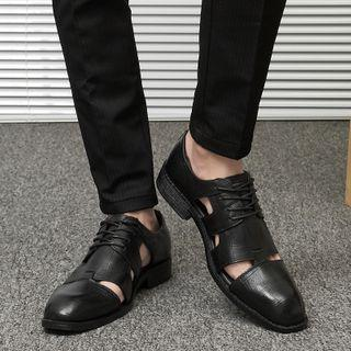 Lace Up Panel Oxfords