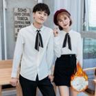 Couple Matching Fleece-lined Shirt
