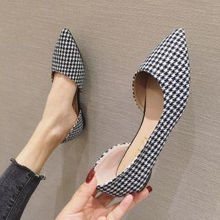 Houndstooth Pointed Flats