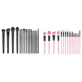 Set Of 16: Makeup Brushes