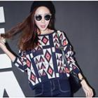 Geometric Print Knit Top