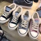 Fleece-lined Canvas Sneakers