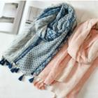 Tassel Patterned Scarf