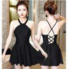 Cross Back Halter Swimdress
