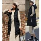 Oversized Padded Hooded Zip Vest