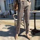 Tapered Plaid Dress Pants