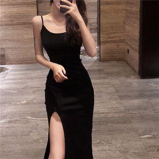 Strappy Slit Dress