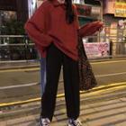 Polo Sweatshirt / Wide-leg Pants