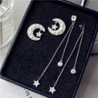 Moon & Star Fringed Earring