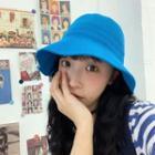 Plain Bucket Hat Blue - One Size