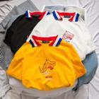Dinosaur Embroidered Short Sleeve Polo Shirt