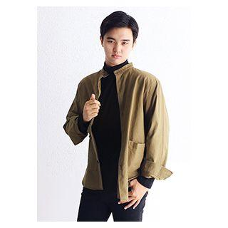 Mandarin-collar Loose-fit Jacket
