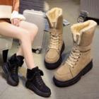 Lace-up Short Platform Boots