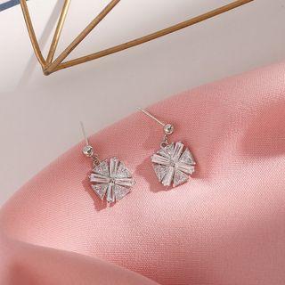 Sterling Silver Rhinestone Earrings  - Earring