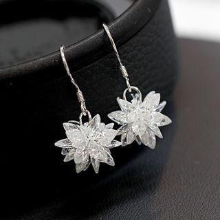 Snowflake Drop Earrings / Threader Earrings