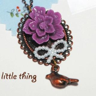 Vintage Beautiful Bird Necklace
