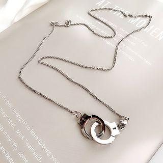 Handcuff Pendant Necklace Wxl-50 - Handcuff - One Size