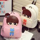 Cartoon Faux-leather Mini Backpack