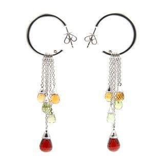 Colourful Cascade Earrings