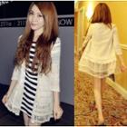 3/4-sleeve Lace Light Jacket