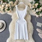 Plain Sleeveless Tank Top Dress