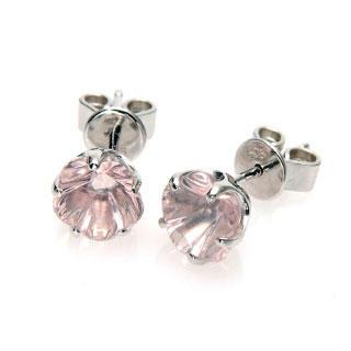 Blossom Earrings - Rose Quartz