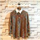 Melange Jacquard Sweater