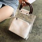 Transparent Handbag With Pouch