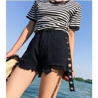 Ripped Wide Leg Shorts