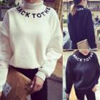 Letter Turtleneck Sweatshirt