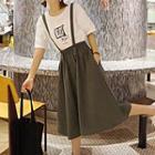 Plain Suspender Skirt