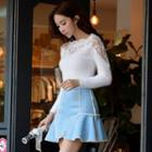 Lace-panel Sweater