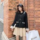 Long-sleeve Jacket / Plain Skirt