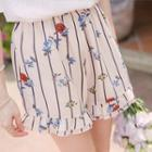 Printed Ruffled Shorts