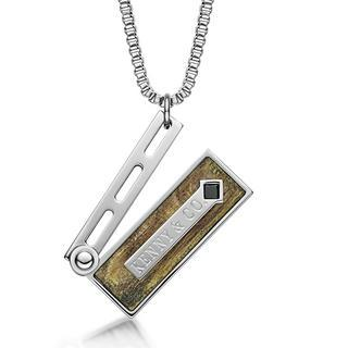 Black Crystal, Grain Clapper Board Pendant With Necklace(brown) Brown - One Size