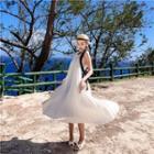 Halter Midi Pleated Dress