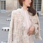 Tweed Sleeveless A-line Dress / Tweed Skirt / Tweed Jacket