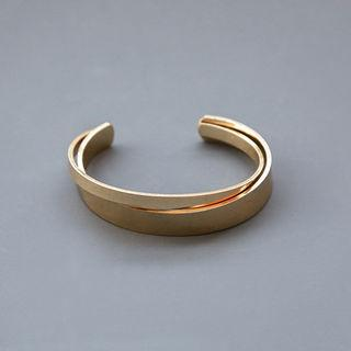 Layered Metal Open Bangle