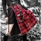 Midi Pleated Plaid Skirt