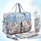 Nylon Patterned Zip Carryall Bag With Pouch