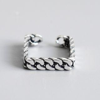 Twisted Square Open Ring Ring - One Size
