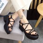 Platform Block Heel Strappy Sandals