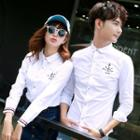 Couple Matching Anchor Print Shirt