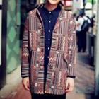 Patterned Button Down Jacket