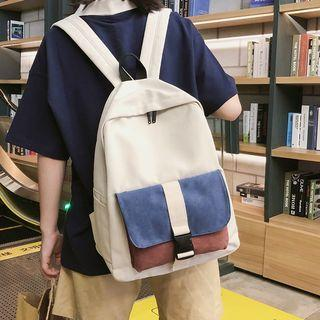 Colored Pouch Canvas Backpack