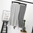 Striped Mermaid Pencil Skirt