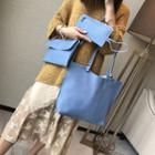 Set: Faux Leather Tote Bag + Shoulder Bag + Long Wallet
